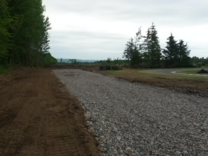 First half of new Back Straight takes shape
