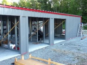 New shop/storage under construction